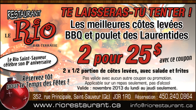 Le Rio is Celebrating the 8th Year Anniversary. 2 for 25$